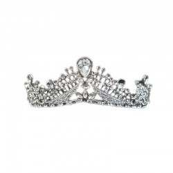 Victorian Tiara Silver with Clear Diamante