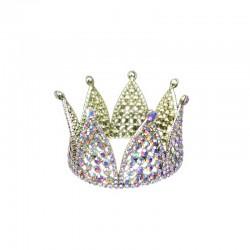 Mini Crown Gold with Aurora Borealis Diamante