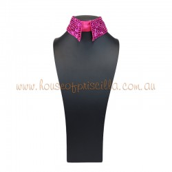 Sequin Collar Hot Pink