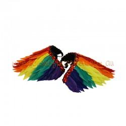 Rainbow Duck Feather Shoulder Piece
