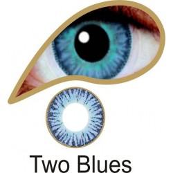 Mesmereyez Two Blues Contact Lenses
