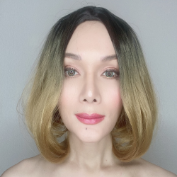 Lala Honey Blonde Ombre Short Synthetic Wig
