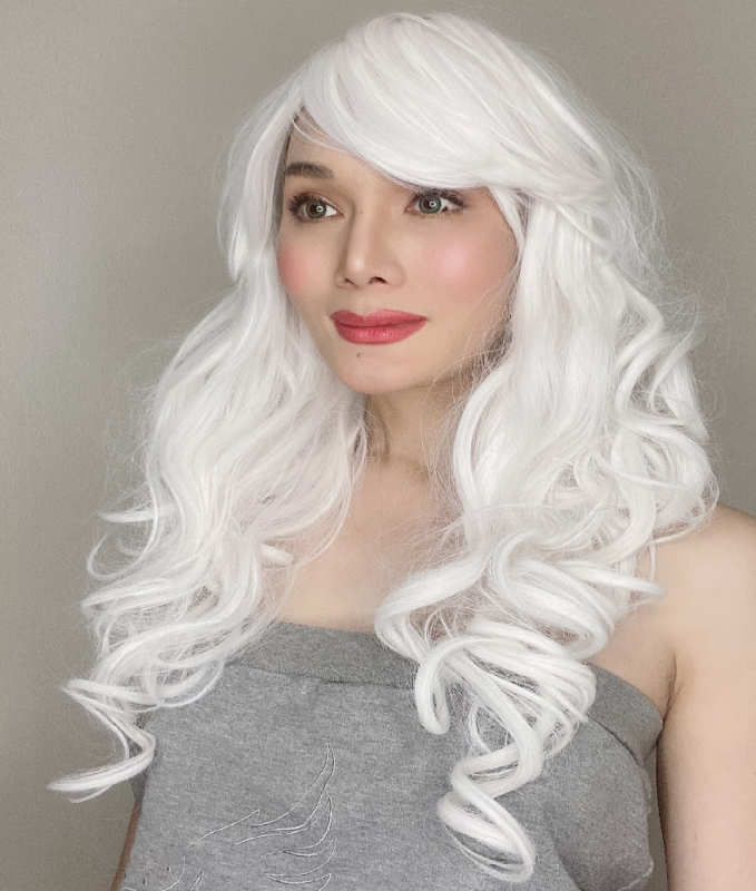 Katy White Long Synthetic Wig
