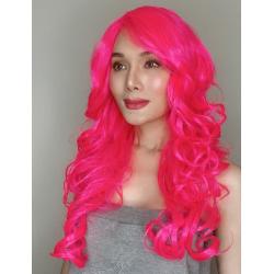 Katy Hot Pink Long Synthetic Wig