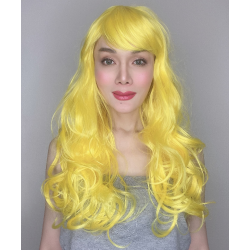 Katy Yellow Long Synthetic Wig