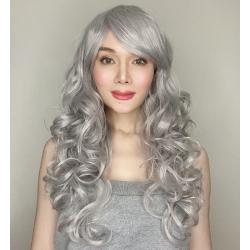 Katy Silver Long Synthetic Wig