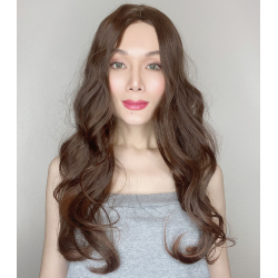 Ally Dark Brown Long Synthetic Wig