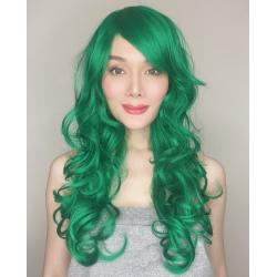 Katy Dark Green Long Synthetic Wig