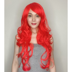 Katy Red Long Synthetic Wig