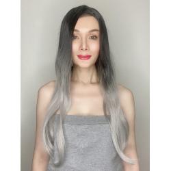 Jojo Silver Ombre Long Synthetic Wig