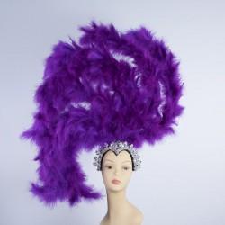 Purple Feathered Gatsby Headpiece