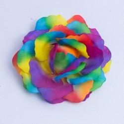 Rainbow Flower Hairclip Large