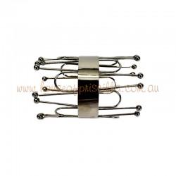 Chrome Plated Metallic Cuff Bracelet