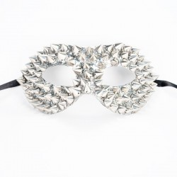 Studded Mask - Silver