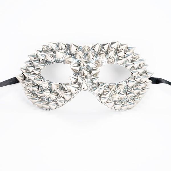Studded Mask - Silver