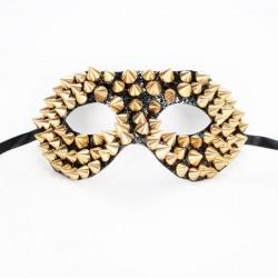 Studded Mask Black & Gold