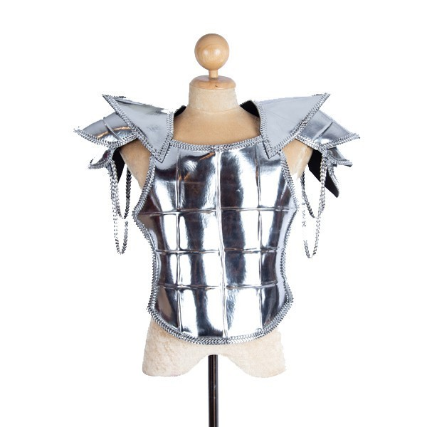 Armor PVC Shoulder Piece and Breastplate Silver