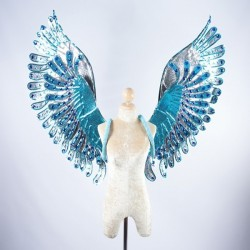 Silver Glitter Wings with...