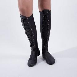 Large Lace Up Socks Black