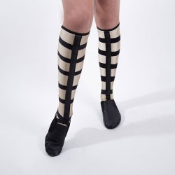 Lace Up Socks - Nude Strap - Small
