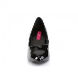 Divine 420 Pump Black Patent Pink Label