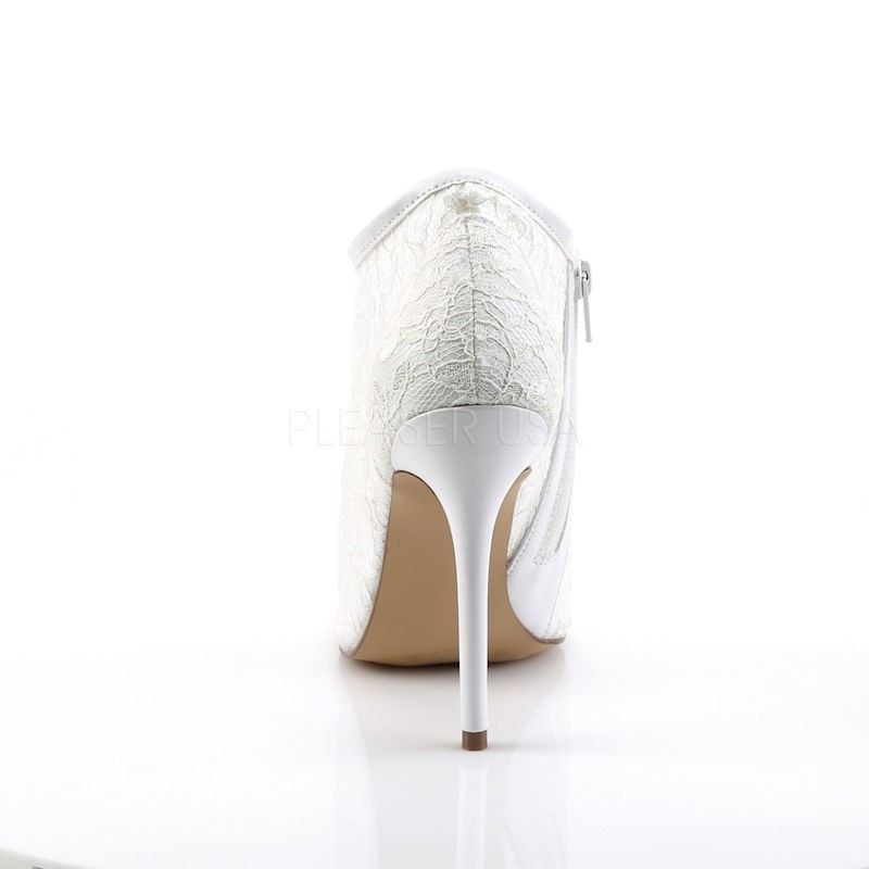 Fabulicious Amuse 56 Open Toe Lace Bootie Ivory