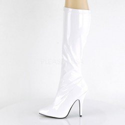 Pleaser Seduce 2000 Boot White Patent