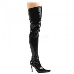 Pleaser Funtasma Lust 3000 Thigh High Boot Black Patent
