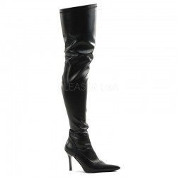 Funtasma Lust 3000 Stretch Thigh High Boot Black PU