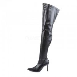Funtasma Lust 3000 Stretch Thigh High Boot Black PU