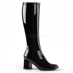 Pleaser Gogo 300 Stretch Boot Black Patent