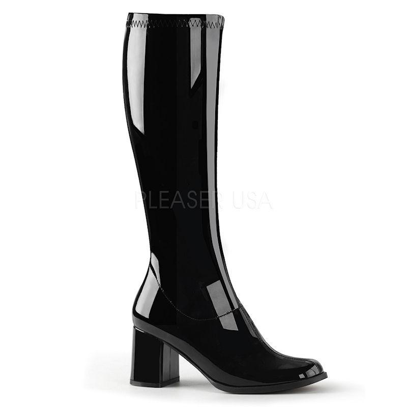 Pleaser Go Go 300 Boot Black Patent
