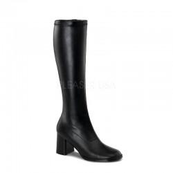 Gogo 300 Stretch Boot Black PU Funtasma