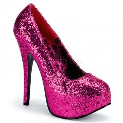 Bordello Teeze 06 Platform Shoe Pink Glitter