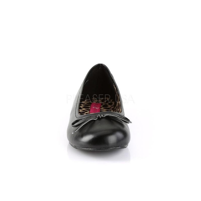 Pink Label Anna 01 Ballet Flat Shoe Black PU