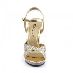 Fabulicious Flair 419G Strap Sandal Gold