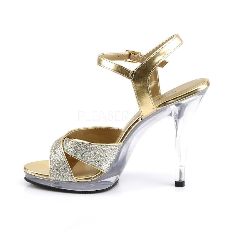 Flair 419G Strap Sandal Multi Glitter Gold Fabulicious