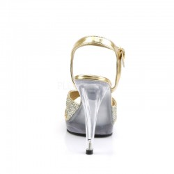 Pleaser Fabulicious Flair 419G Sandal Gold