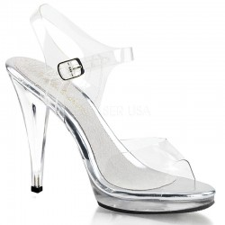 Pleaser Fabulicious Flair 408 Sandal Clear