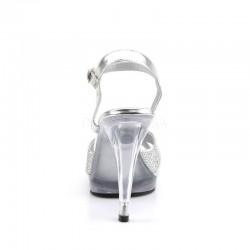 Flair 419G Strap Sandal Silver Multi Glitter  Fabulicious