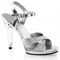 Fabulicious Flair 419G Strap Sandal Silver
