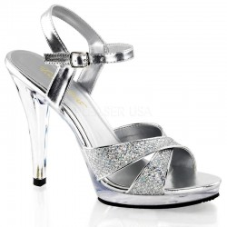 Pleaser Fabulicious Flair 419G Sandal Silver