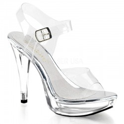 Pleaser Fabulicious Cocktail 508 Sandal Clear