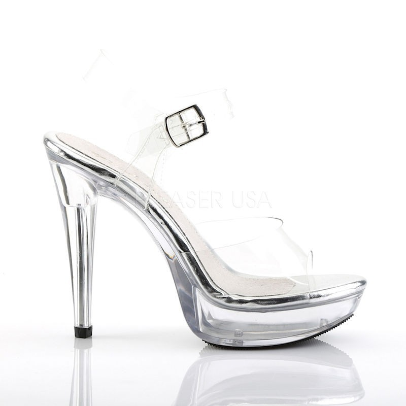 Fabulicious Cocktail 508 Strap Sandal Clear