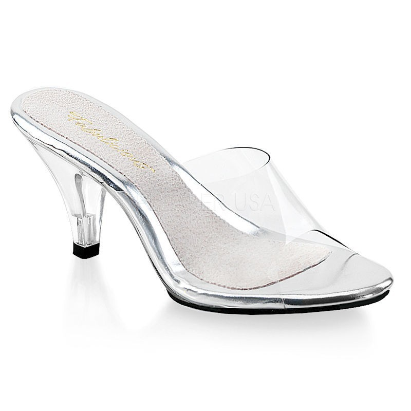 Pleaser Fabulicious Belle 301 Slip On Sandal Clear