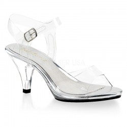 Belle 308 Strap Sandal Clear Fabulicious
