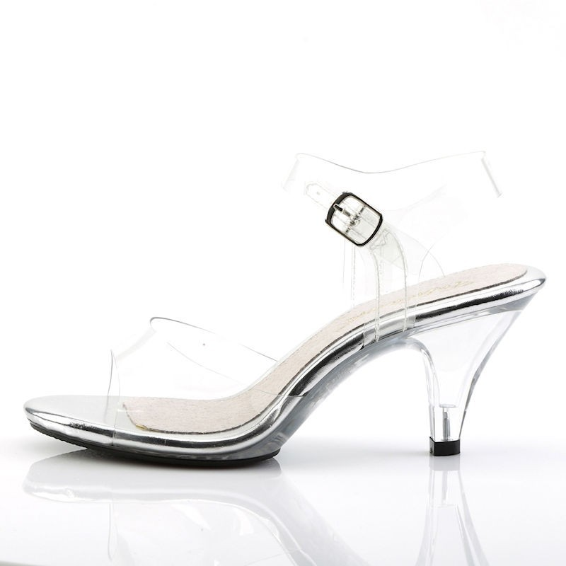 Pleaser Fabulicious Belle 308 Strap Sandal Clear
