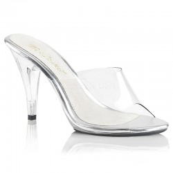 Pleaser Fabulicious Caress 401 Slip On Sandal Clear