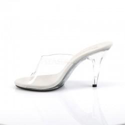 Pleaser Fabulicious Caress 401 Slip On Sandal Clear