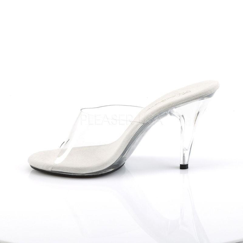 Fabulicious Caress 401 Slip On Sandal Clear